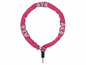 AXA Bike lock plug-in chain RLC 100/5,5 pink