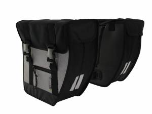 Basil double bike bag Tour black/silver