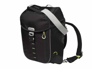 Basil backpack bike bag Miles black lime