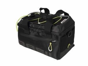Basil luggage carrier bag Miles, black lime