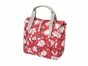 Basil Magnolia shopper bike bag poppy red