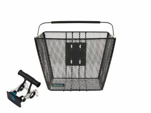 AROUND basket ACE incl. handlebar holder, black