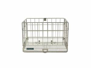 AROUND foldable rear bicycle basket, chrome look