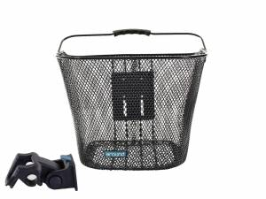 AROUND front bike basket BASIC incl. handlebar holder, black