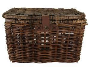Basil rattan bike basket Denton L brown
