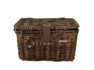 Basil rattan bike basket Denton M brown