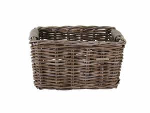 Basil rattan bike basket Dorset M grey