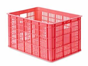 Basil bicycle crate fluorescent pink L