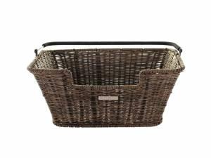 Basil rear basket Capri Flex Rattan-look brown