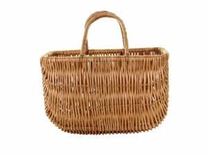 Basil willow front/rear bike basket Swing, natural