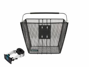 AROUND front bike basket ACE incl. handlebar stemholder, black