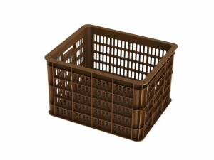 Basil bicycle crate saddle brown M