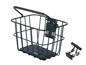 AROUND front basket ACE VR ALU incl. handlebar holder, matt black