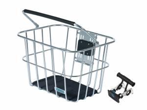AROUND front basket ACE VR ALU incl. handlebar holder, alu