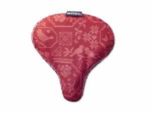 Basil Saddle cover Boheme red