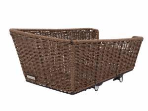 AROUND rear bike basket College Comfort Rattan Style Fix, brown