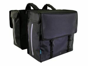 Around Double rear bicycle bag SOFT, black