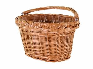AROUND front bicycle basket Willow Oval Basic, natural-coloured