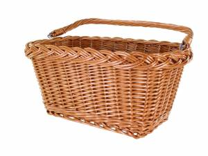 AROUND front bicycle basket Willow Rect Basic, naturel-coloured