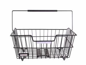 AROUND rear bike basket Wire Comfort, black