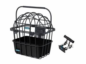 AROUND front basket LUNA VR incl. dome and handlebar holder, matt black