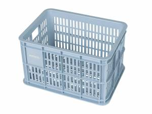 Basil bicycle crate S silver cloud