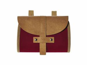 Basil saddle bag Portland dark red