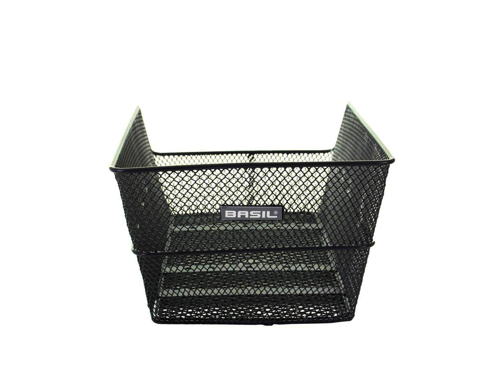 Basil Rear Bike Basket Cento Black Bicyclecomfort
