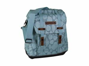 New Looxs Alba Folla shopper bike bag green grey