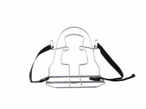 Steco Monkey-Bag luggage carrier for school bag, silv